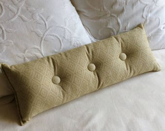 Sage green woven 9x25 Bolster/lumbar pillow available in many of our fabrics