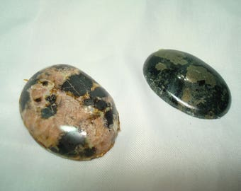 Two Oval Agate Stone Cabochons.