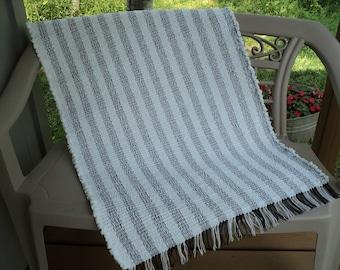 White Cotton Chenille Hand Woven Rag Rug