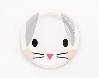 Bunny Rabbit Face Plates pk 8