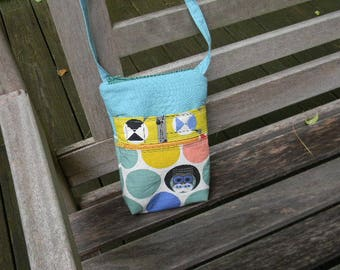 Charley Harper Owls Zipper Crossbody Bag