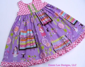 Size 4T Ready to Ship, Princess and the Pea Dress,Toddler Dress,Girls Dress,Girls Clothing,Little Girl Dress,Purple