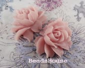 34-00-CA  2pcs Beautiful Cabochon Rose - Lilac