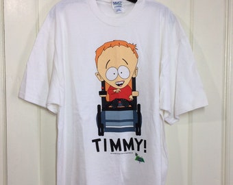 South Park Timmy character t-shirt size XL 23x29 Comedy Central white all cotton