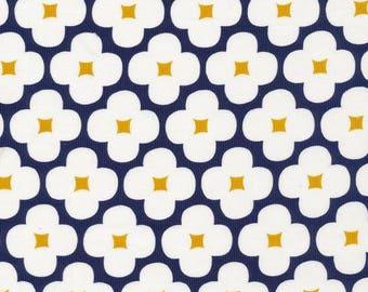 Organic CORDUROY Fabric - Cloud9 Spring Quartet - Floret Dark Navy