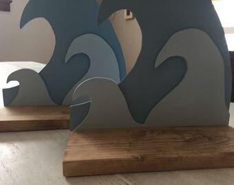 Wave/Beach/Ocean Picture Ledge/Shelf/Gallery Shelf