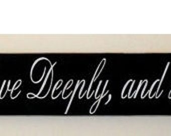 ON SALE TODAY Live Simple, Love Deeply, and Have No Regrets Inspirational Quote Sign Large Sign 6 x 48