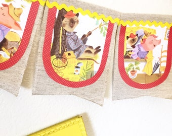 Storybook Canvas Banner. The Little Red Hen.