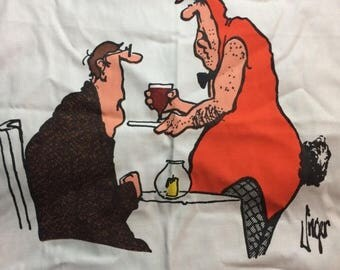SUMMER SALE Herman Comic Apron All the Girls are out Sick Jim Unger The Vancouver Sun 1980 Retro Cooking Apron Playbunny