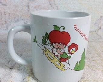 SUMMER SALE 1980s Strawberry Shortcake Mug Ceramic Christmas Holidays American Greetings