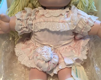 """Vintage 16"""" Cabbage Patch Doll Leslie Xavier Roberts #4164"""