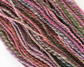 "Handspun Yarn -- ""Apple Blossom"" -- merino wool -- 290 yards sport weight"