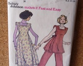 Vintage 1970s Butterick Betsey Johnson Pattern - Paper SEWING PATTERN #4427 - Vintage Sewing Pattern - Free Postage Australia Wide
