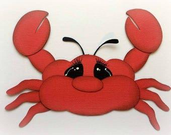Adorable sea baby crab animal premade paper piecing 3d die cut by my tear bears kira