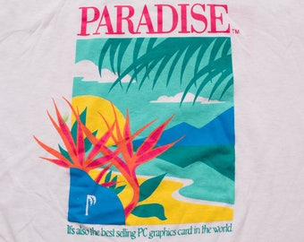 Paradise PC Graphics Card T-shirt, Western Digital Imaging, Vintage 80s, Personal Computer Video Hardware, Computing Technology, Techie Geek