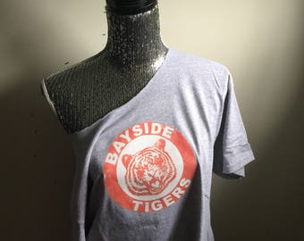 Bayside Tigers Saved By The Bell Kelly Kapowski Off The Shoulder Tee Shirt