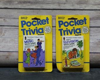 1984 Hoyle Pocket Trivia Cards, Card Game, Travel Game, Car Game