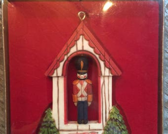 Vintage Hallmark Tree Trimmer Collection Ornament Soldier 1976