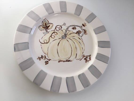 Give Thanks, Autumn, Fall, Thanksgiving, Harvest, Hand painted Platter, Autumn decoration, fall plate, thanksgiving platter, farm house