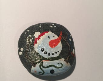 Hand Painted Sea Stone Refrigerator Magnet