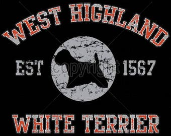 Womens TANK TOP West Highlander Terrier Westie Dog Choose Size and Color 17439
