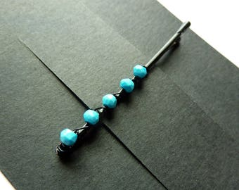 Sleeping Beauty Turquoise Bobby Pin - Something Blue - Gemstone Bobby Pin