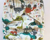 diaper cover, cloth diaper cover, one size, dinosaur,  boy, AI2 Optional, All-in-Two optional