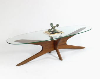 "Adrian Pearsall for Craft Associates ""Jacks"" Walnut Coffee Table Model 893 TGO"