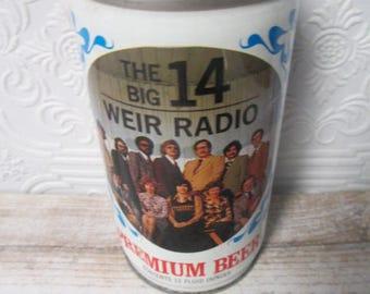 The Big 14 Weir Radio Pittsburgh Steel Industry 50  Vintage Steel Beer Can Pull Tab