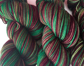 Green Purple Variegated Sock Yarn