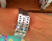 Custom Listing For Lauren-Sale-Single Name or Word Skinny Cuff Bracelet