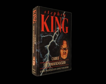 Vintage Horror. Carrie / The Tommyknockers, by Stephen King. Two Books in One. 1994. Hardback.  Hodder and Stoughton.  Black.