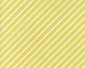 Fig Tree Fabric - Ella and Ollie Fabric Yardage - Moda Quilt Fabric - Apple - Green Stripe Fabric By The 1/2 Yard -