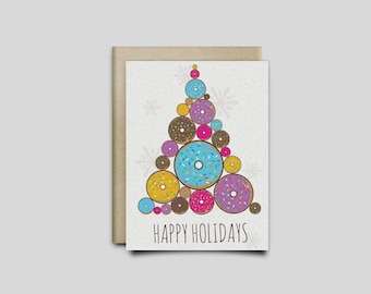 Donut Christmas Cards, 2 Pack