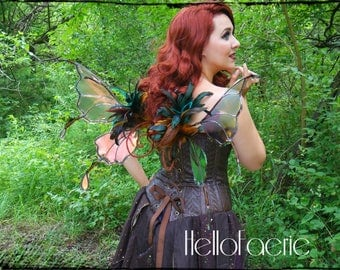 Small Goblin Feather Butterfly Iridescent Faerie Wings