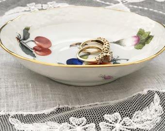 Herend Market Garden Porcelain Pin Trinket Dish / Saucer