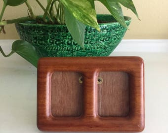 """Teak Picture Frame Small (double frame) for 1 1/2"""" x 1 3/4"""""""