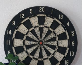 Vintage dart board, black and white baseball, FREE SHIPPING USA