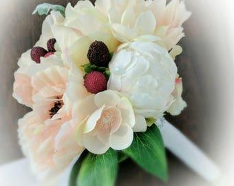 Peony Bouquet - Peach Wedding Bouquet