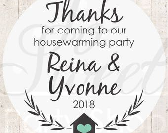 Housewarming Party Favor Stickers, Housewarming Party Favors, New Home Gift Labels, First Home, Home Sweet Home, Hostess Gift - Set of 24
