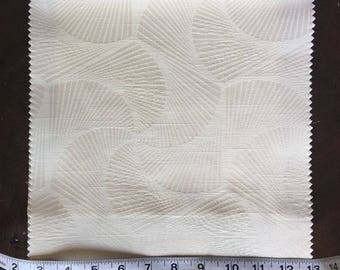 Custom Curtains Valance Roman Shade Shower Curtains in Ivory Modern Swirl Pattern Fabric