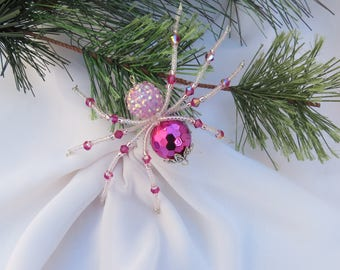 Christmas Spider Beaded Ornament Folk Art Legend of Tinsel and Garland