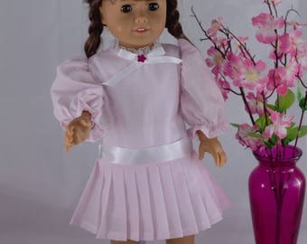 Pink Spring Easter Dress-American Girl Doll-18 inch Doll