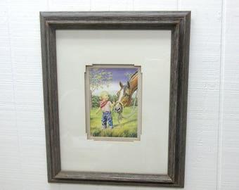 "Western Art Print ""A Carrot"" By Susan Von Borstel"