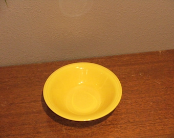 Vintage Yellow Harlequin Dessert Dish