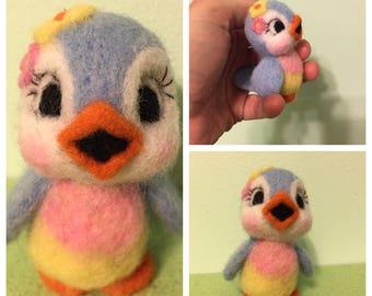 Bluebird of Happiness by Melanie / Felted Bird / Soft Sculpture