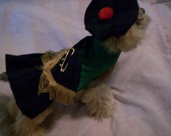 Black Watch Tartan Plaid Dog Harness Kilt XXXS,XXS,XS,S,M,L