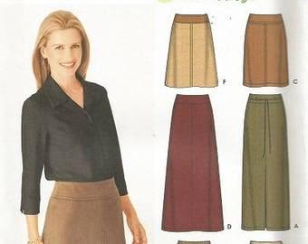 Simplicity 9825  Plus Size Skirt Pattern SZ 14-20