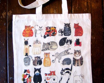 Rescue Cats Cotton Market Tote Bag