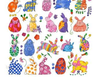 I Like Bunnies Print